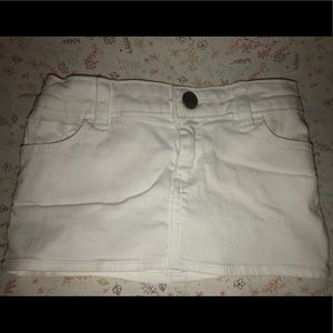 Baby Gap White Denim Skirt - 12-18 months